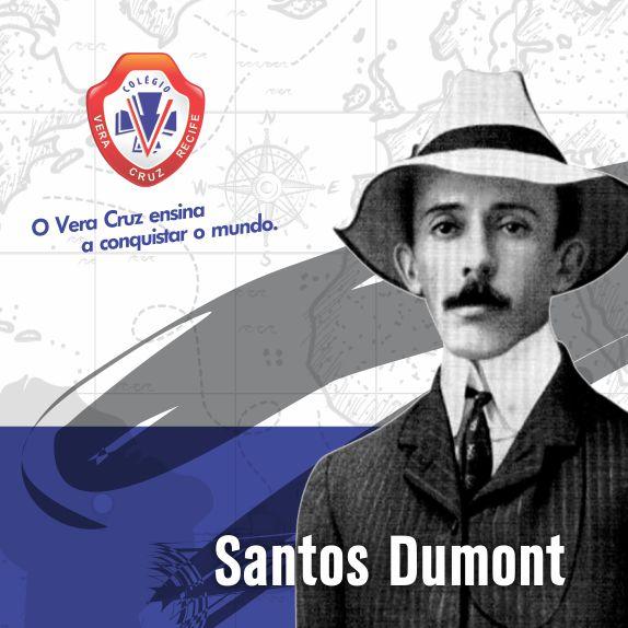 """ac7cf287ec1 Santos Dumont (1873-1932) foi um inventor brasileiro. """"O pai da aviação"""".  Com o """"14-Bis"""""""
